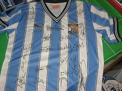 Coventry City 1987 FA Cup Final Shirt Fully Signed by Every Player & Managers!