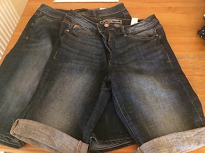 2 Pairs Of Next Knee Length Denim Shorts Size 10