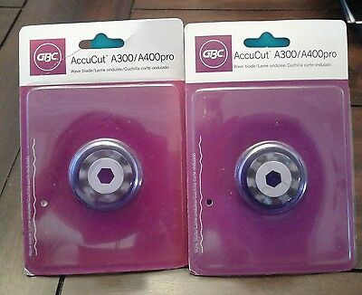 2 Pack Lot of GBC AccuCut WAVE BLADES, Scrapbook Crafts, NEW!