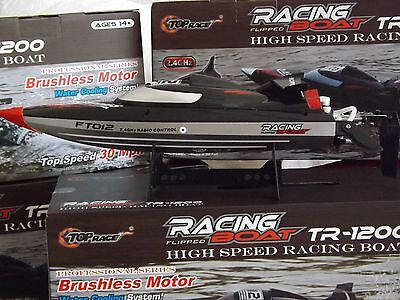 Feilun FT012 4CH 2.4G Brushless Water Cooled High Speed Racing RC Boat UK RTR