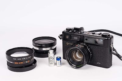 Yashica Electro 35 GT + conversion lens- new seal and Battery adapter