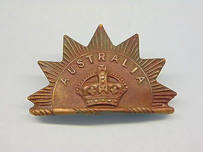 A Rare Australian Boer War Period Head-Dress Badge.