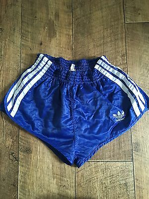 Vintage Adidas Shorts Sports West Germany Glanz Blue Sprinter Holiday D3 W26 XS