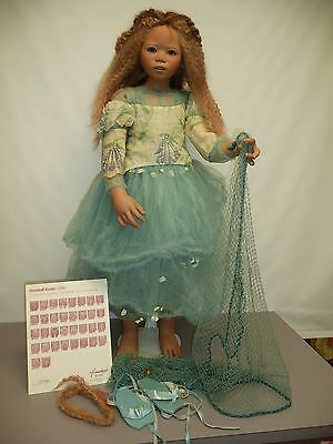 """36.5"""" Pre-owned Lenani by Annette Himstedt, Gold Version, from 2006 w/COA & Box"""