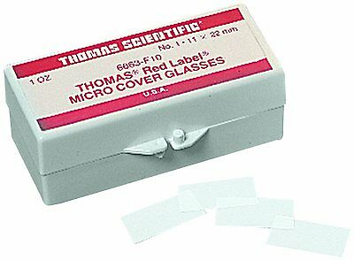 Thomas 24X60-1-602757 Glass Rectangle Cover, 24mm Length, 60mm Width, 1mm #5W9