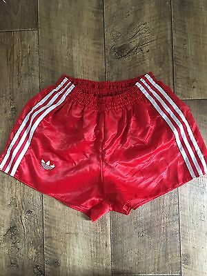 Vintage Adidas Shorts Sports Vented Glanz Retro Sprinter Holiday W32 Run S/M Red