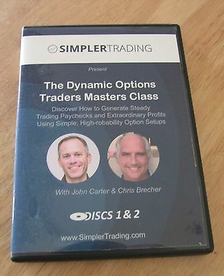 SIMPLER OPTIONS THE DYNAMIC OPTIONS TRADERS MASTERS CLASS 3 DVDs BY JOHN CARTER
