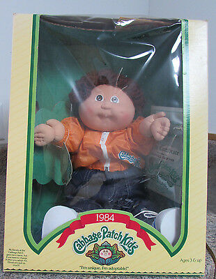 Cabbage Patch Boy in Nice Box Merrill Skipper Brown Hair Brown Eyes