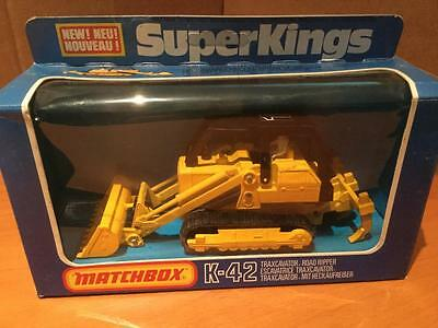 Matchbox Lesney SuperKings K42 Traxcavator Road Ripper VNMIB