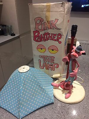 Rare Vintage 1980s Pink Panther Table Lamp With Original Box