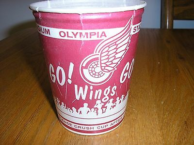 red wings olympia stadium paper cup