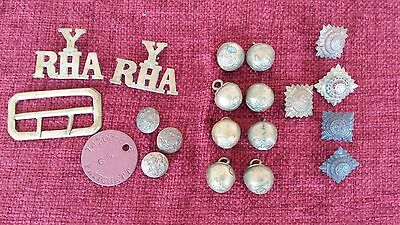 Vintage Military Buttons/badges Assorted Lot