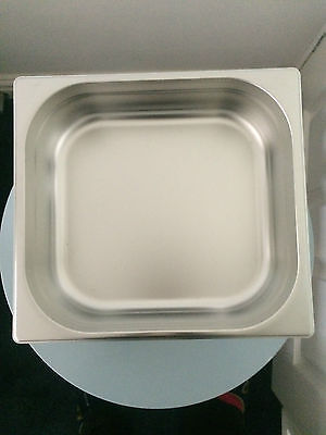 STAINLESS STEEL 2/3 GASTRONORM PAN 100mm DEEP GASTRO TRAY