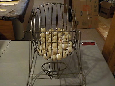 Bingo Cage with 72 Balls and 6 Cards Gambling
