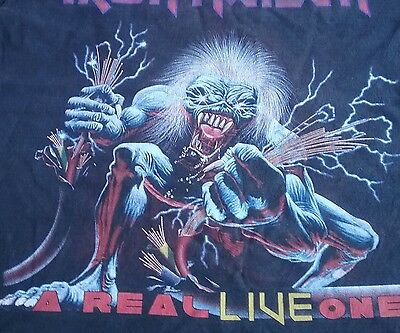 Iron Maiden T Shirt (A real live one) size L