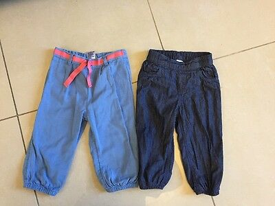 Girls Trousers 12-18 Months  M&S & H&M