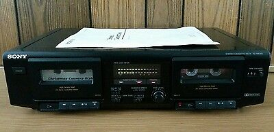 Sony TC-WE305 Dual Stereo Cassette Tape Player Recorder 4 Track 2 Channel