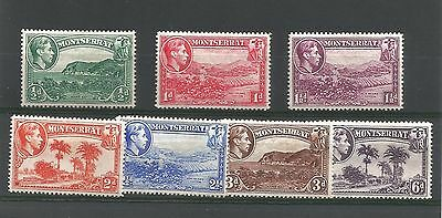 Montserrat George Vi 1938 Perf 14 Part Set 7 Values - Mint