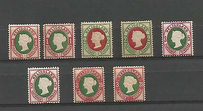 Stamps Heligoland 1875. mounted mint values - small collection