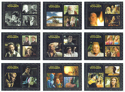Quotable Star Trek Voyager Complete Best Of The Holodeck Chase Card Set H1 to H9