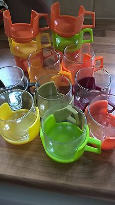 retro glass cups