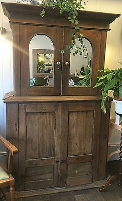 Antique 17th C. Chestnut French Mirrored Dresser