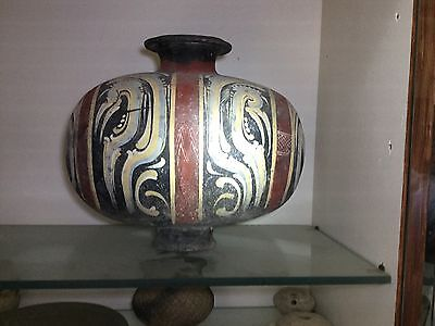 Han Dynasty Cocoon Jar..206 BC-220 AD..Spectacular Colors..Excellect Condition
