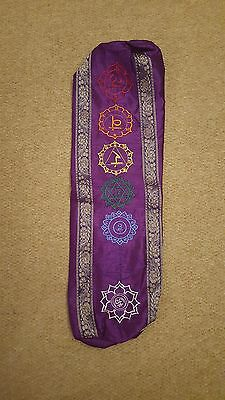 Embroidered Yoga Mat Bag- made in India. With inside pocket and robust strap