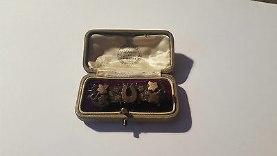 VINTAGE STERLING SILVER HORSE SHOE BROOCH IN ANTIQUE JEWELLERY BOX 4.1g