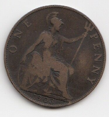 1903 One Penny Edwardvs VII nice coin Take a look