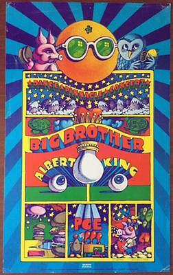 Big Brother And The Holding Company - Original 1968 Concert Poster!