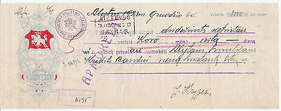 Lithuania VEKSELIS 1000 litu 1923 bill of exchange / promissory note