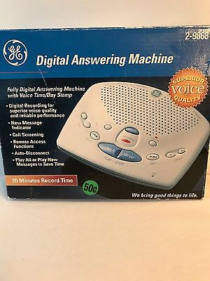 Ge General Electric Digital Answering Machine System 2-9868