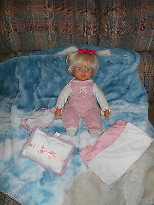"""Little Mommy Interactive 16"""" Doll Real Loving Baby Fisher Price  Mattel 2006"""