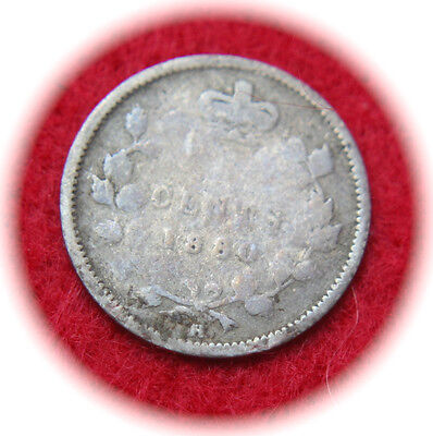 1880-H Canada 5 Cents KM# 2 Silver Coin - No Reserve