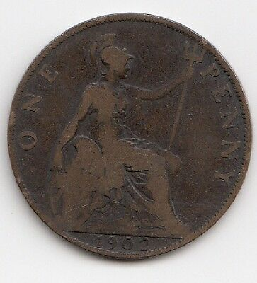 1902 One Penny Edwardvs VII nice coin Take a look 2