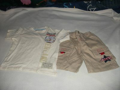 Timberland / Jeep T Shirt And Shorts Age 3-4