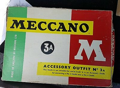 vintage meccano accessory outfit 3A M series with original box