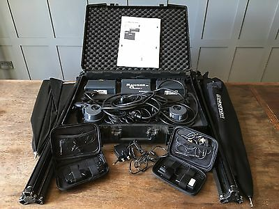 Elinchrom Ranger Quadra RX400 - *2 A HEADS, BATTERY, STANDS, TRIGGERS, BROLLYS*