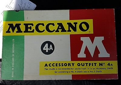 vintage meccano accessory outfit 4a complete with original box M series