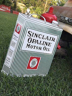 Antique Vintage Old Style Sinclair Opaline Motor Oil Can Sign!