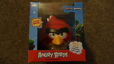Official New Red Angry Birds Illumi Mate Colour Changing Led Night Light