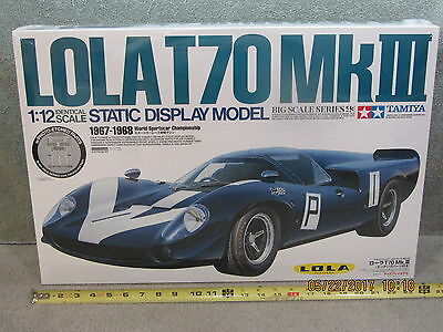 Tamiya 1/12 Scale Lola T70 Mkiii + Photo Etch Detail & Alu Turned Funnels Rare