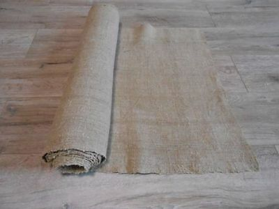 Antique Heavy LINEN Fabric Canvas 0,53x5m Color Natural 19thC Great condition