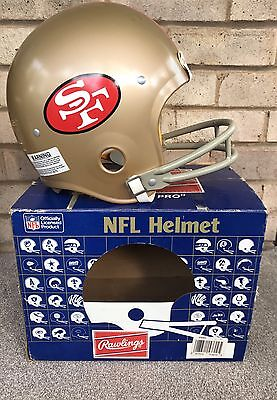 American Football Rawlings San Francisco 49ers Helmet