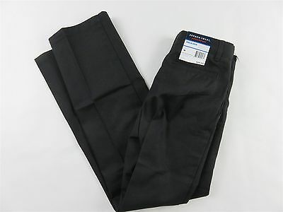 FRENCH TOAST Boys Relaxed Modern Fit Adjustable Waist Uniform Pants BLACK 12 NEW