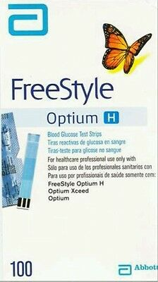 100 Abbott Freestyle Optium H Test Strips New Stock - FREE SHIPPING