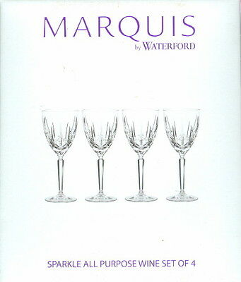 Marquis By Waterford Set of 4 Sparkle Wine Goblet ~ Verre ~ All Purpose Wine NIB