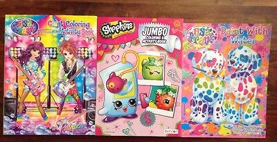 Coloring Books For Kids Lisa Frank Shopkins 3 Book Set NEW Free Shipping