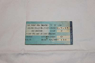 Roy Orbison UNUSED Concert Ticket-THE FRONT ROW THEATRE  MAY 14, 1987